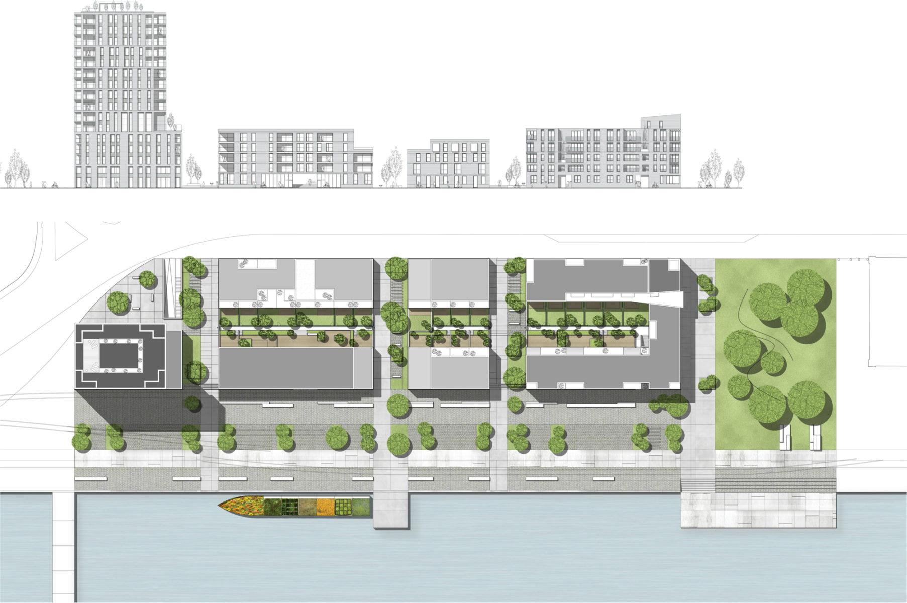 Facade & site plan